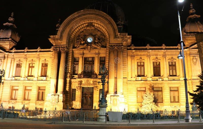CEC Palace in Bukarest, Rumänien lizenzfreie stockfotografie