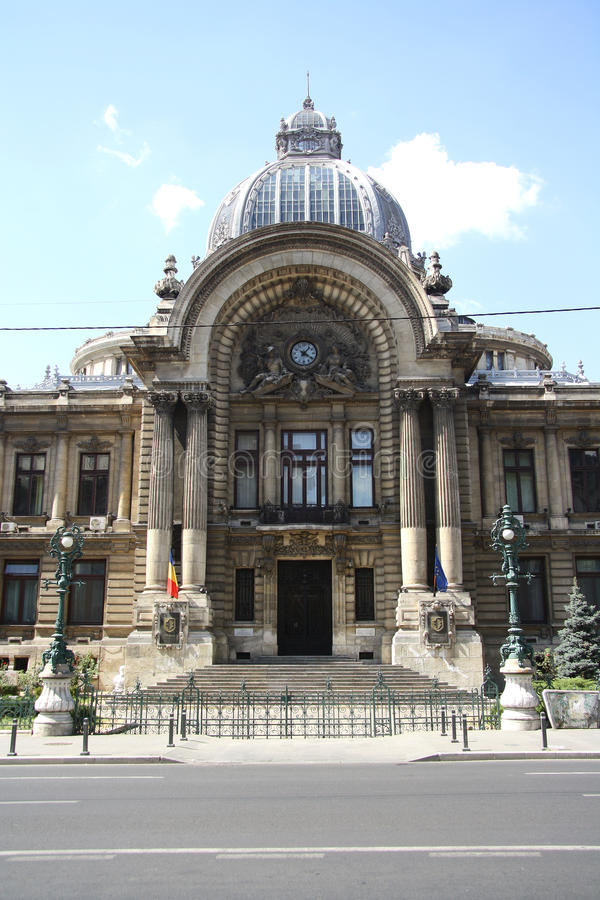 CEC Palace in Bukarest, Rumänien stockbild
