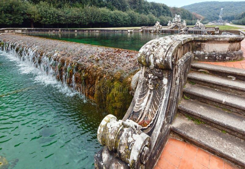 Cecere喷泉在卡塞尔塔,意大利王宫的  图库摄影