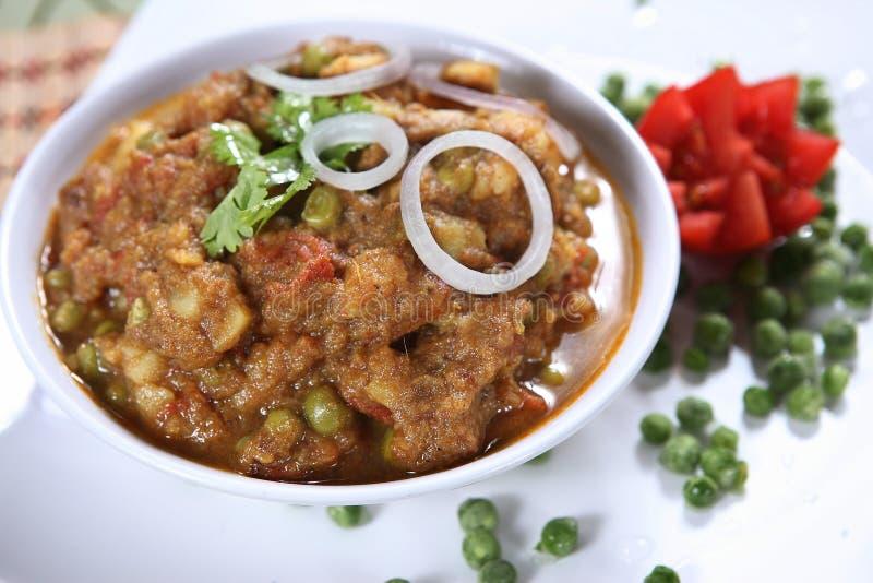 Ceci aromatizzati misti, masala di Chole, tarkari di Chana immagini stock