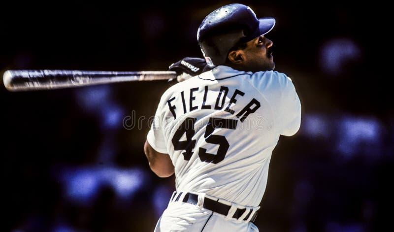 Cecil Fielder, première base de Detroit Tigers photo stock