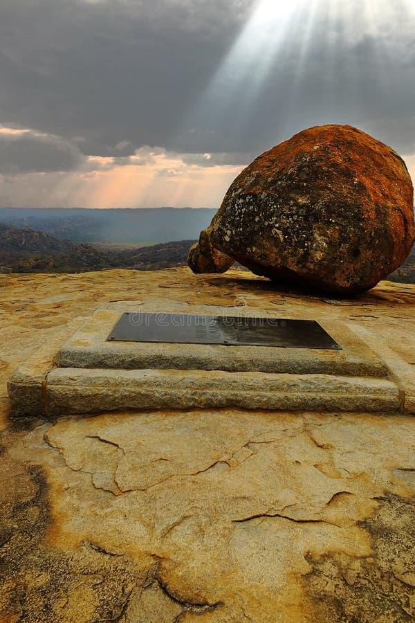 Cecil J. Ρόδου τάφος σε Matobo στοκ εικόνα με δικαίωμα ελεύθερης χρήσης