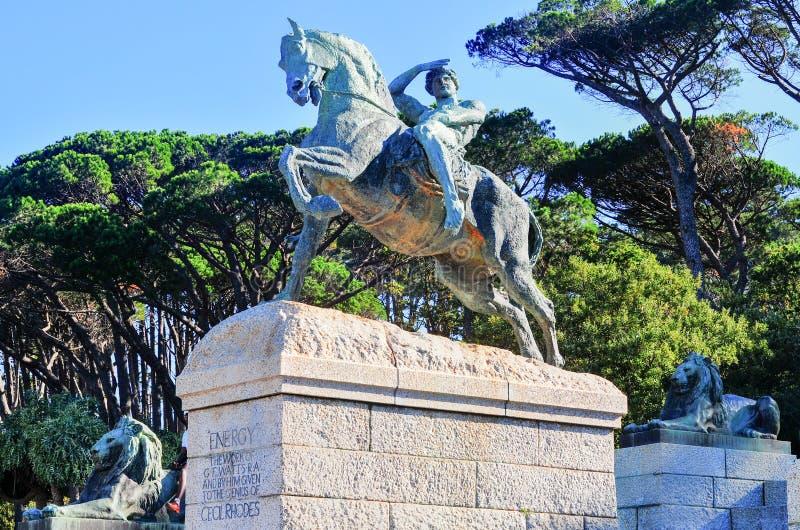 Cecil Rhodes Monument - Cape Town, Sudafrica immagini stock libere da diritti