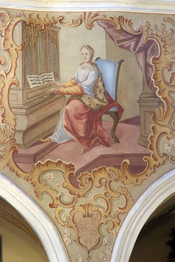 cecilia święty obraz royalty free