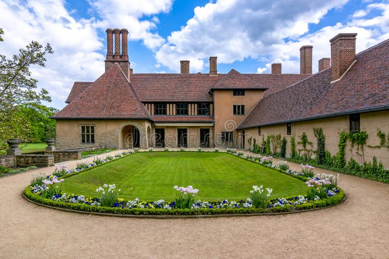 Cecilienhof Palace in New Neuer park, Potsdam, Germany royalty free stock images