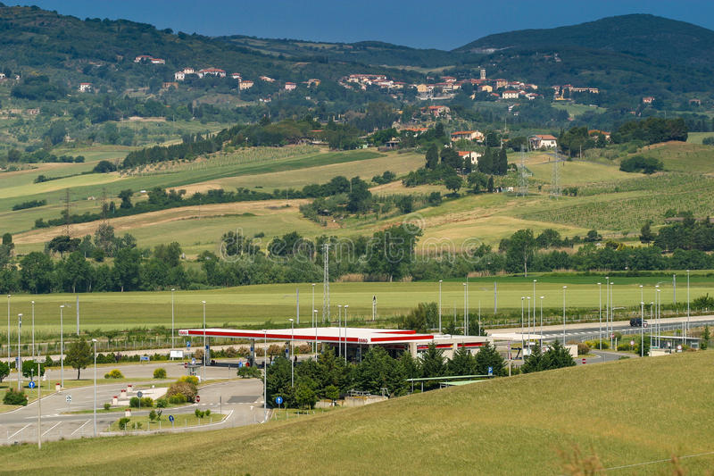 Cecina - Autobahn von Rosignano Solvay nach Livorno, Toskana, Ita stockfotos