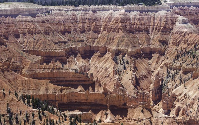 Cedar Breaks red and white sandstone amphitheater stock images