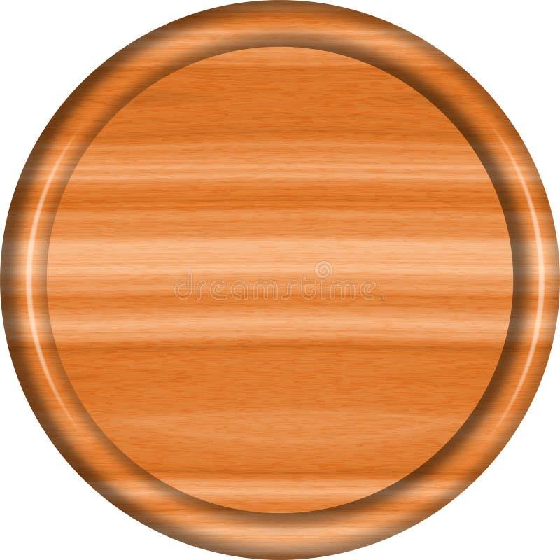1 a 1 Cedar Circular Sign Blank ilustração stock