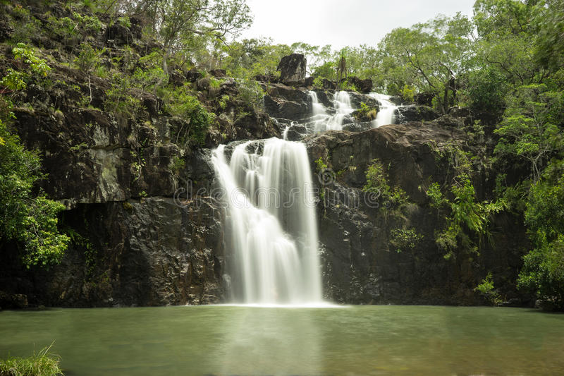 Cedar Creek Falls Proserpine Queensland stockbild