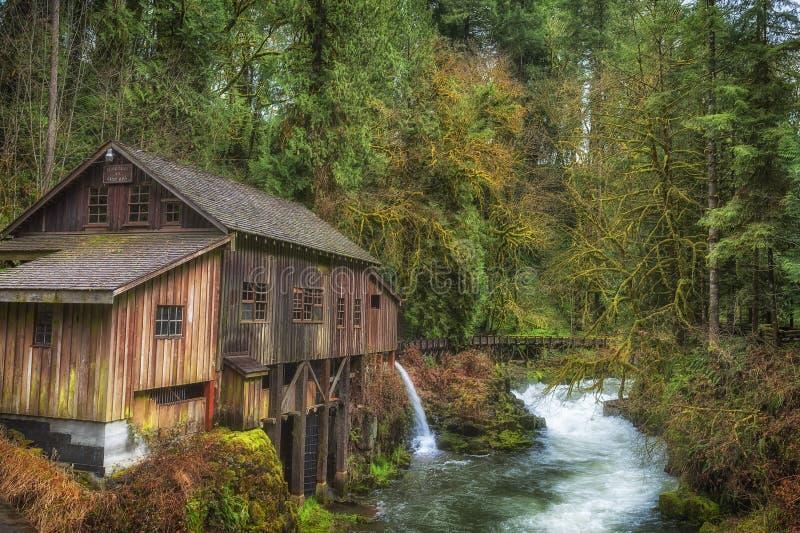 Cedar Creek Grist Mill en Washington State imagen de archivo libre de regalías