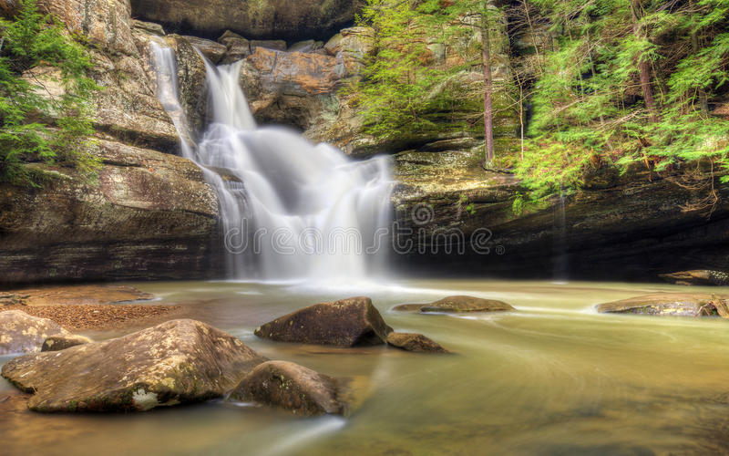 Cedar Falls Ohio. The very beautiful Cedar Falls in Hocking Hills Ohio. Very popular tourist atraction stock photography