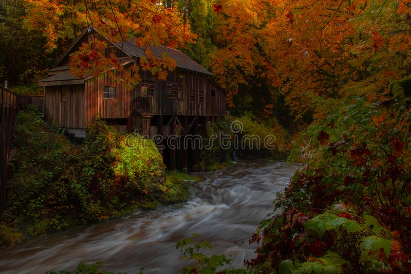 Cedar Grist Mill royalty free stock photo