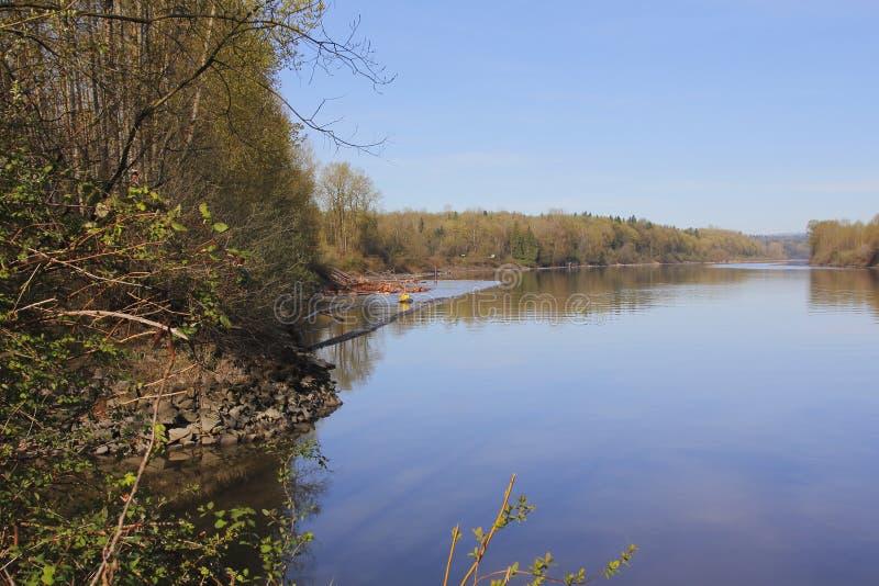 Cedar Log Mill en Fraser River imágenes de archivo libres de regalías