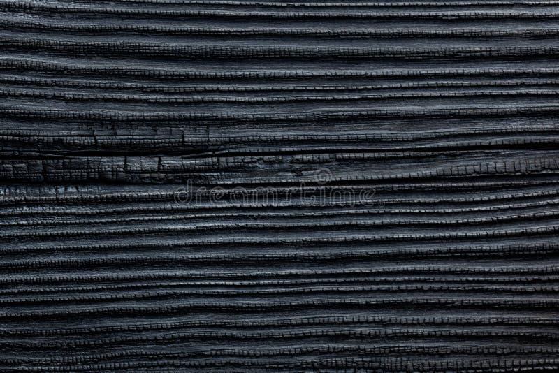 Cedar Pine House Siding Background de madeira queimado & carbonizado do preto fotografia de stock