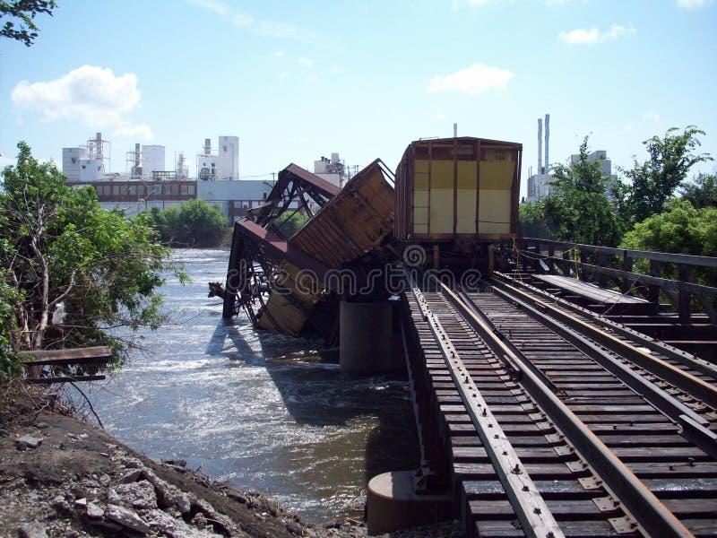 Cedar Rapids, πλημμύρα της Αϊόβα του 2008 στοκ φωτογραφία με δικαίωμα ελεύθερης χρήσης