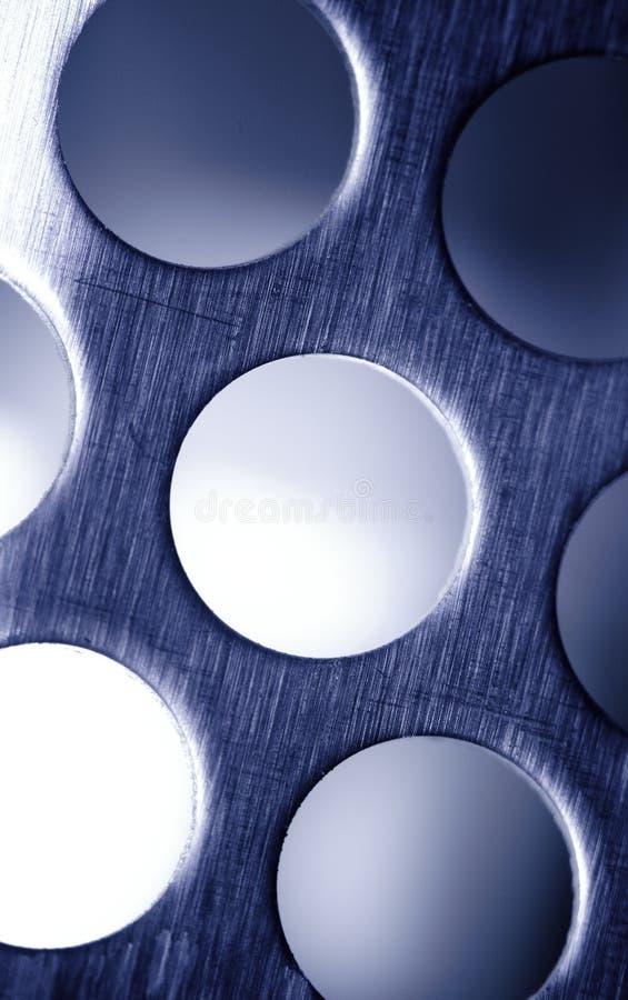 Cedazo azul del metal. imagenes de archivo