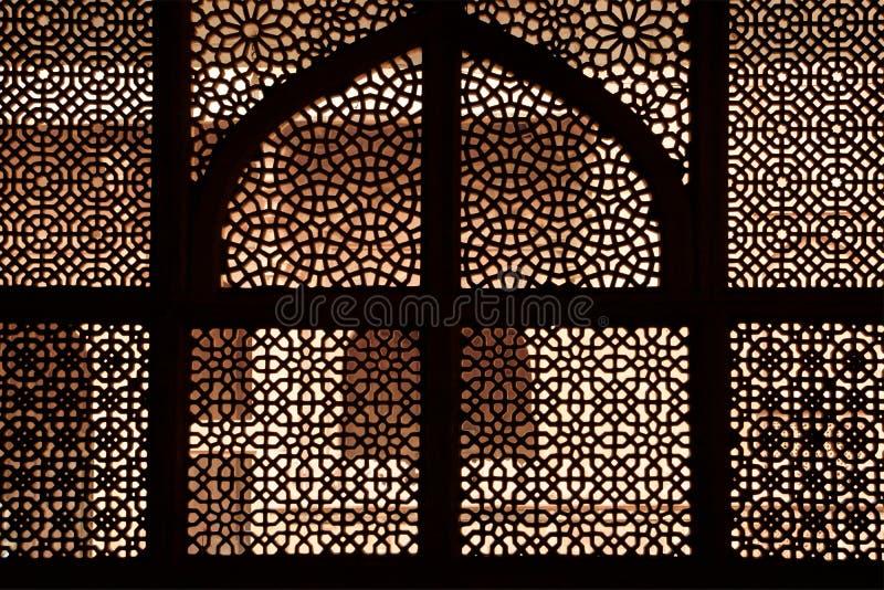 Cedazo de mármol de la tumba. Fatehpur Sikri, la India foto de archivo
