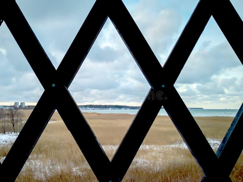 cedazo El mar del invierno imagen de archivo libre de regalías