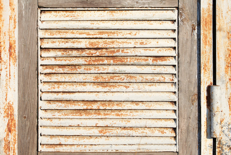 Cedazo oxidado viejo del metal fotos de archivo