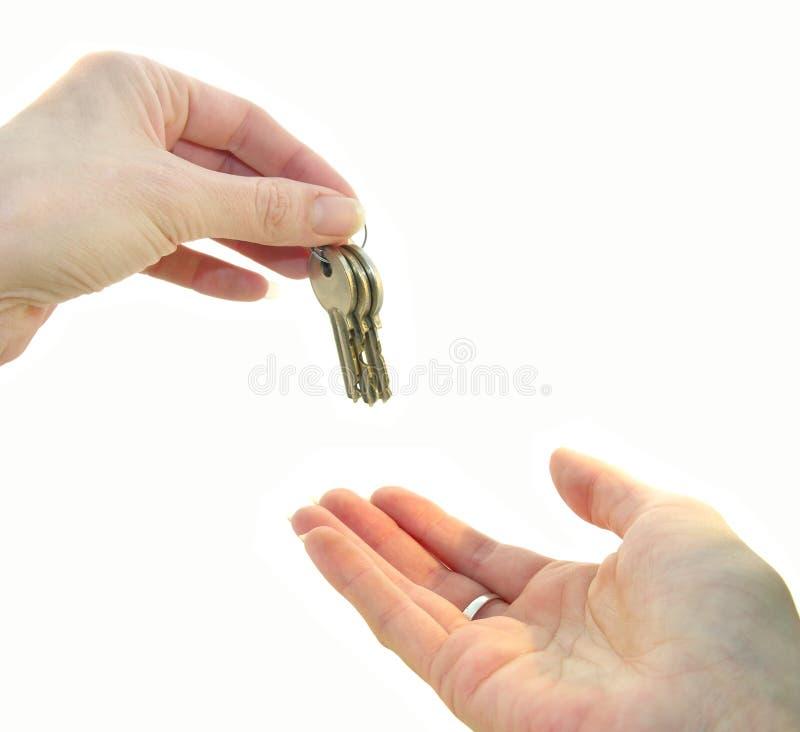 Cedendo as chaves fotos de stock
