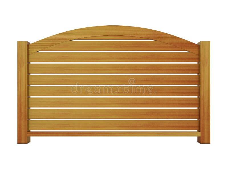 Ceder houten traliewerk met houten balusters en gebogen hoogste spoor 3 royalty-vrije illustratie