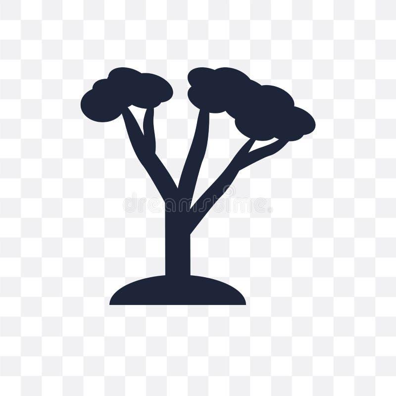 Ceder transparant pictogram Het ontwerp van het cedersymbool van Aardcollecti royalty-vrije illustratie