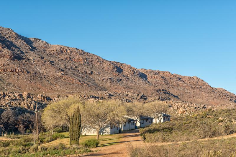 Chalets at Sanddrif Holiday resort in the Cederberg royalty free stock photos