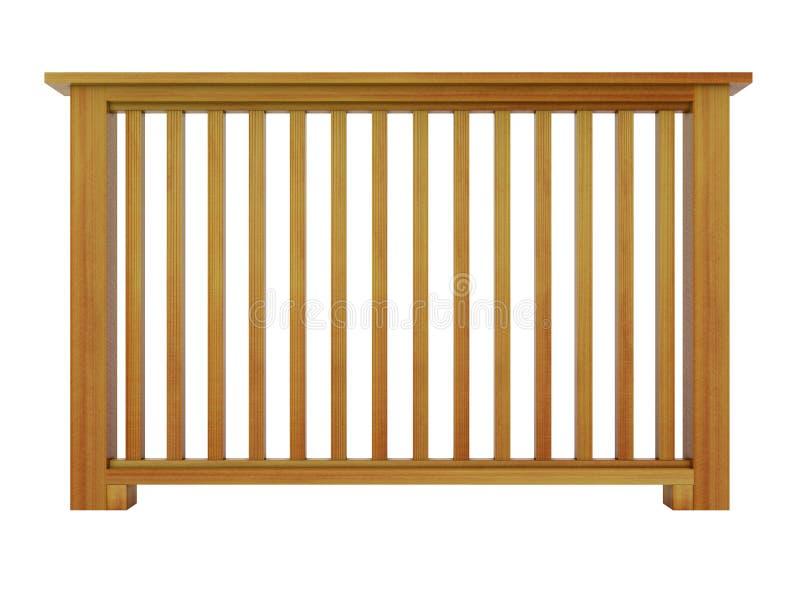 Cedrowy drewniany poręcz z drewnianymi tralkami royalty ilustracja