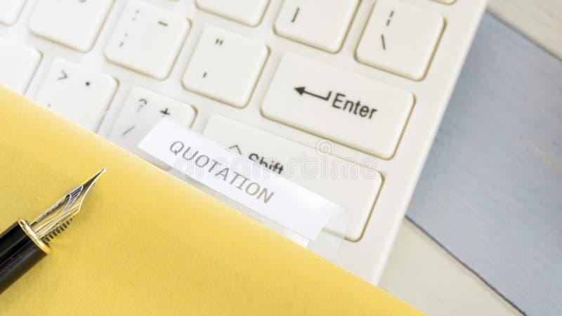 Ceduła biznesowy dokument na biurowym gabinecie zdjęcie stock