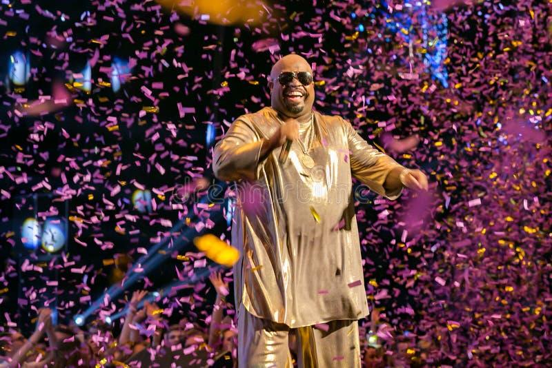 Cee Lo Green Live en los premios de MOBO, arena de Leeds, Reino Unido imagen de archivo libre de regalías