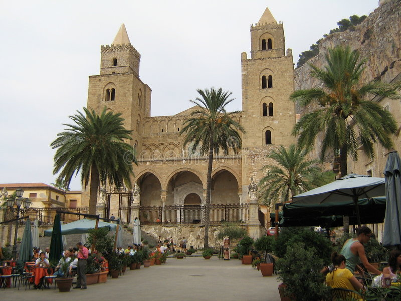 Cefalù Cathedral stock photography