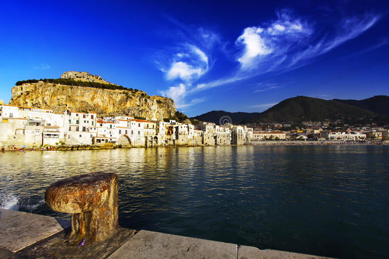 Cefalù (Sicilia) foto de archivo libre de regalías