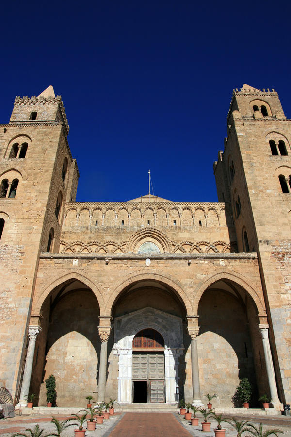cefalu Σικελία καθεδρικών ναών στοκ φωτογραφίες