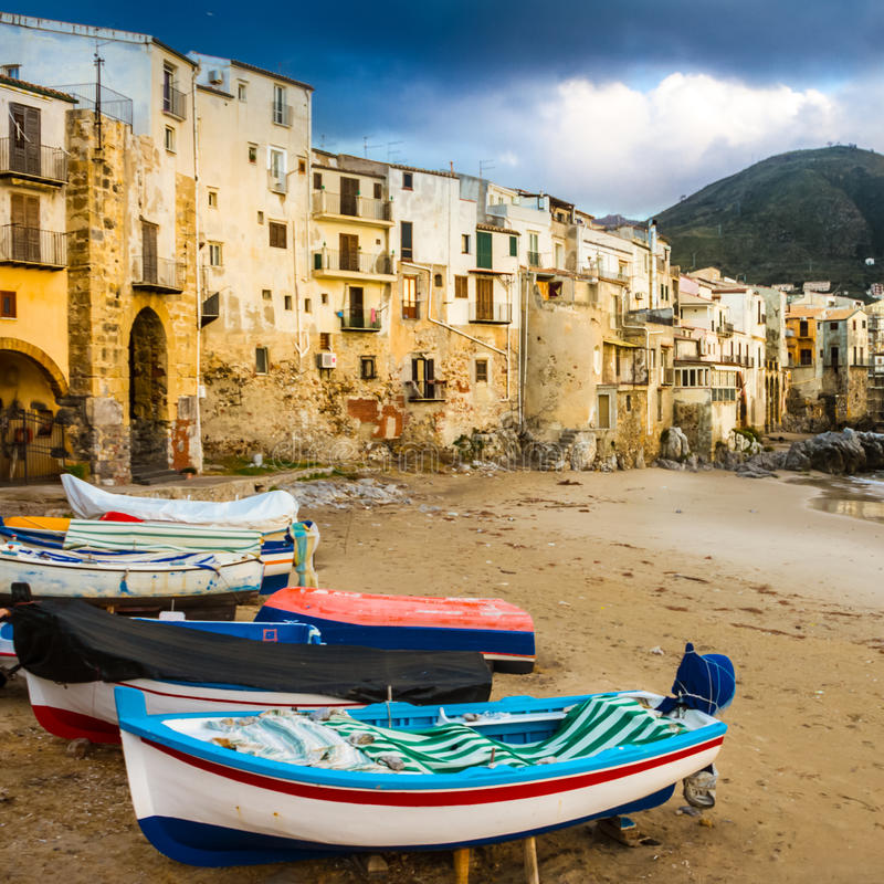 Cefalu, Сицилия, Италия, Европа. стоковое изображение