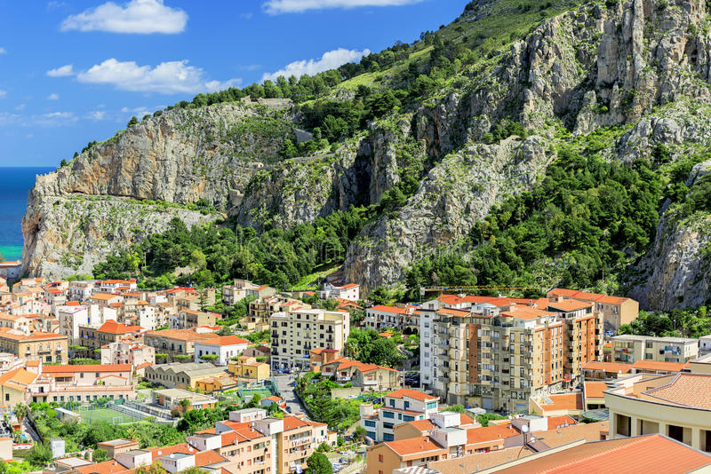 Cefalu a city on northern coast of Sicily stock image