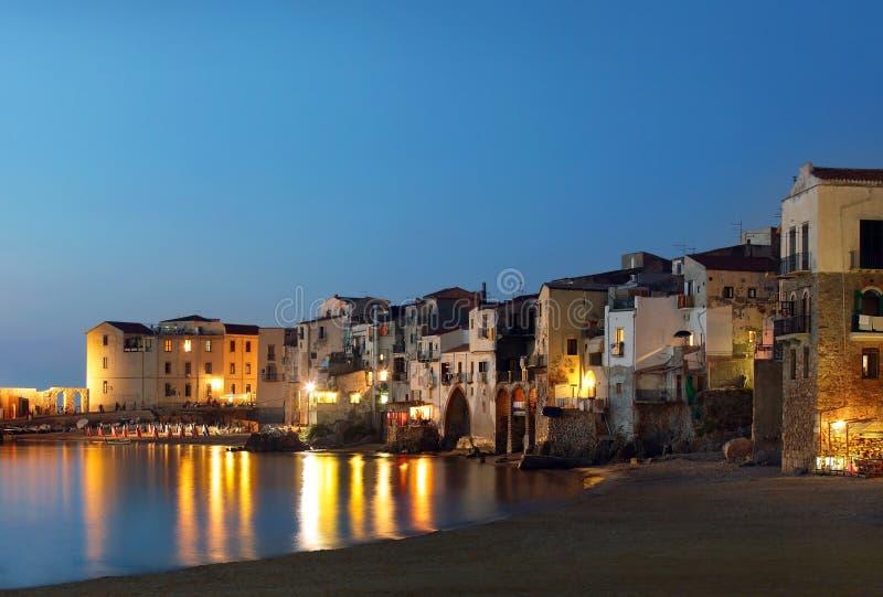 Cefalu city, Sicily stock photography
