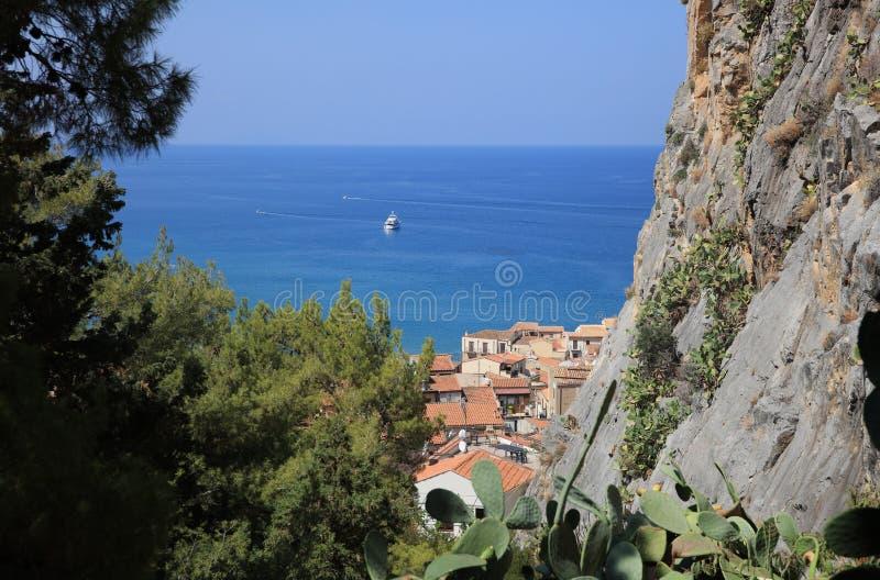 Cefalu en Sicilia fotografía de archivo