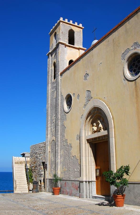 cefalu kościelny stary Sicily fotografia stock