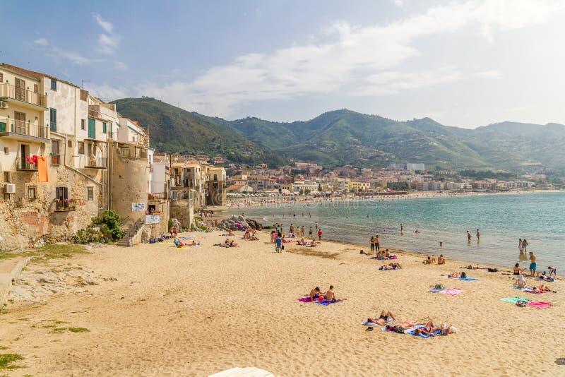 Cefalu Oporto Vecchio, Sicilia fotos de archivo libres de regalías