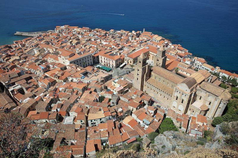 Cefalu in Sicily. The village of Cefalu in Sicily. Italy royalty free stock image