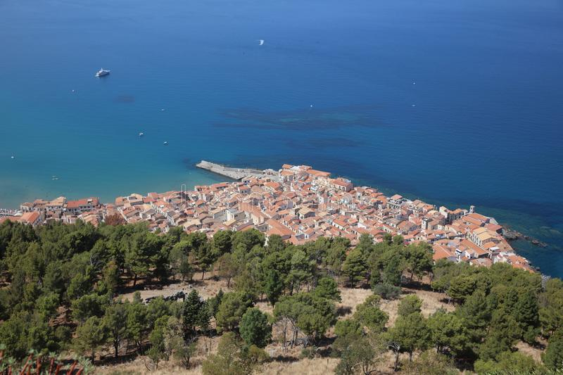 Cefalu w Sicily Włochy obrazy royalty free