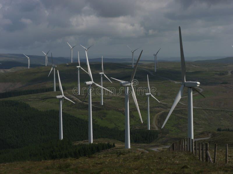 Cefn从笔y garn的Croes Windfarm 库存照片