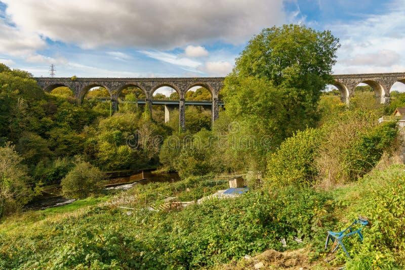 Merthyr Tydfil, Wales, UK. The Cefn-Coed Viaduct in Merthyr Tydfil, Mid Glamorgan, Wales, UK royalty free stock image