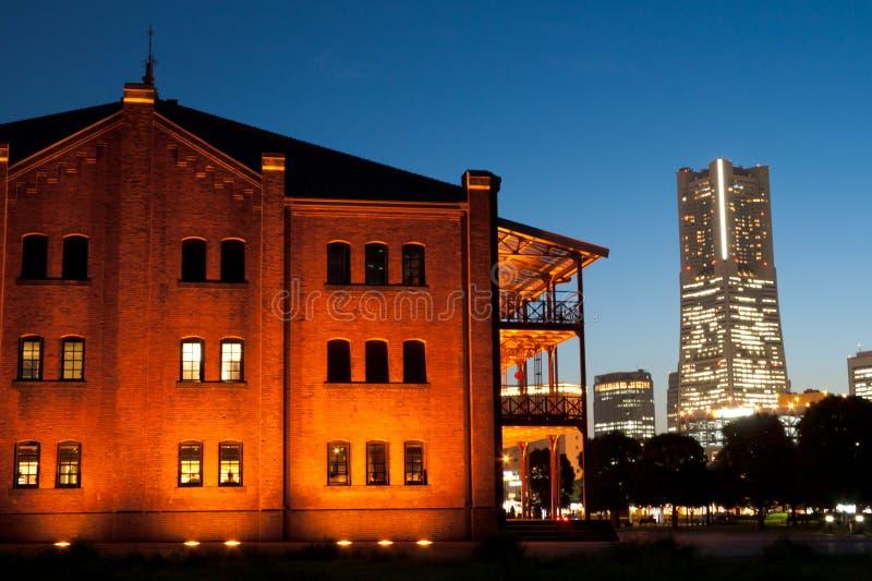 cegły czerwień Yokohama obrazy royalty free