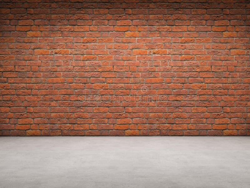 Cegły i betonu pokój ilustracji
