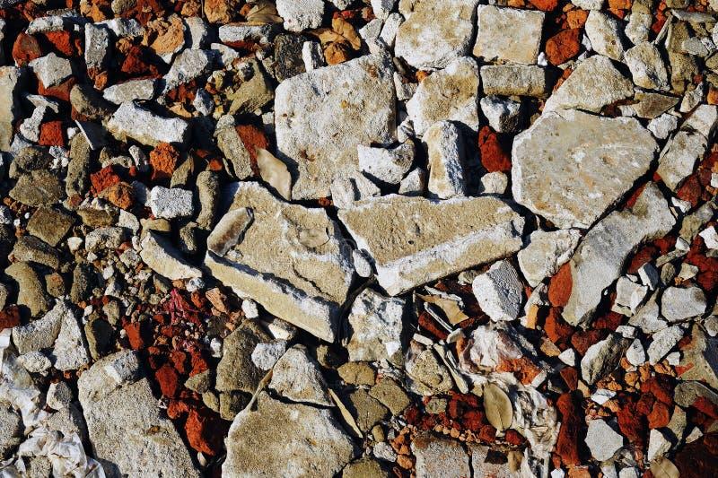 Cegły i betonu ruiny zdjęcie stock
