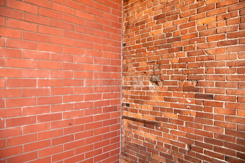 cegły kąta ściana obrazy stock