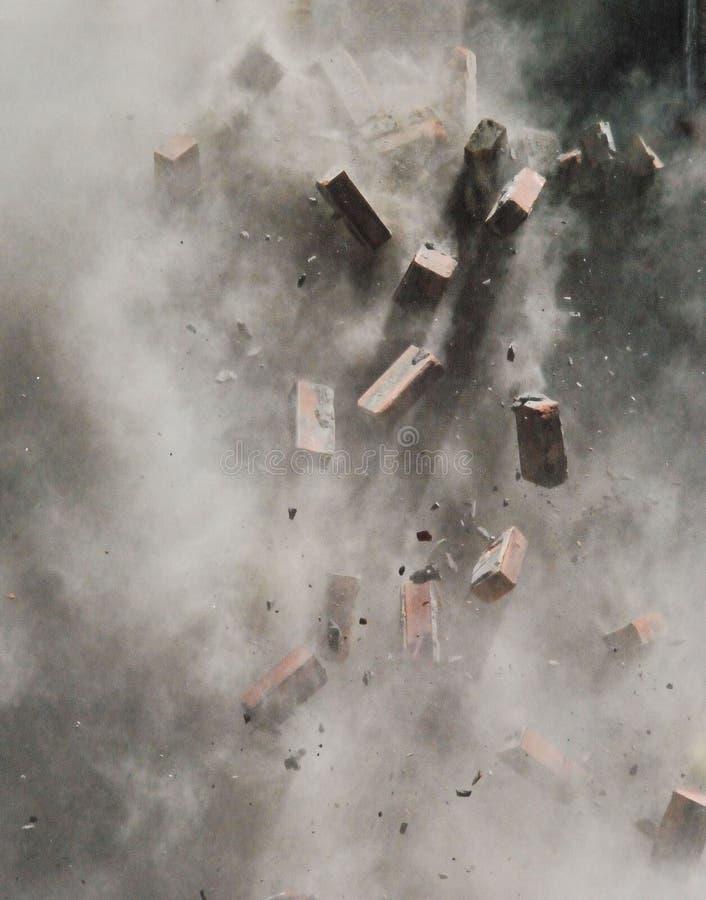 cegły latać zdjęcie royalty free