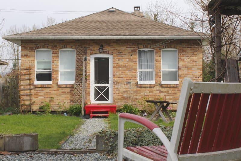 cegły mały domowy czerwony obraz stock
