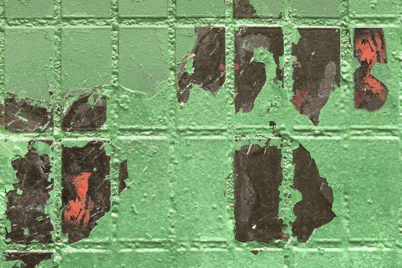 Cegły płytki ściana malujący zielony tło zdjęcia stock